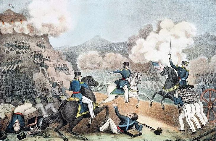 Storming Of Palace Hill At The Battle Of Monterey