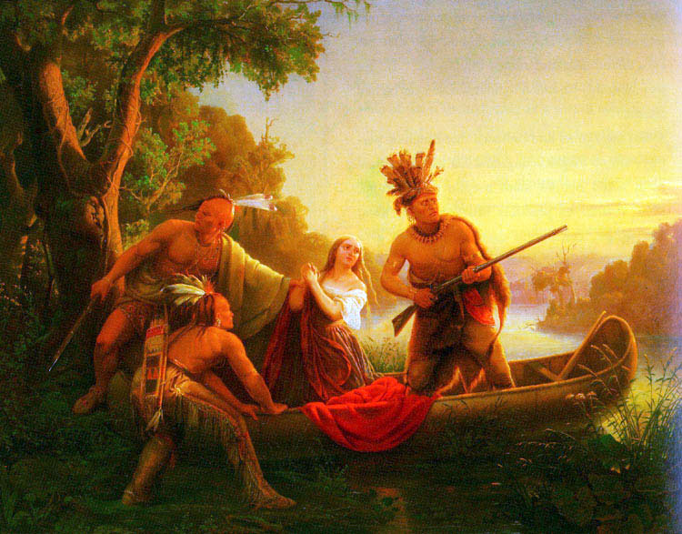 The Abduction of Daniel Boone's Daughter By The Indians