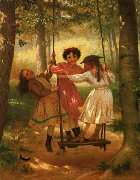 Three Girls On A Swing - The Three Tomboys