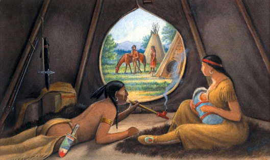 View From The Interior Of A Tipi