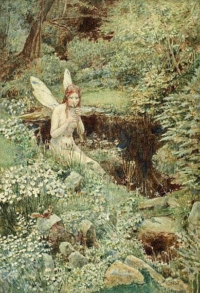 Fairy Playing A Pipe