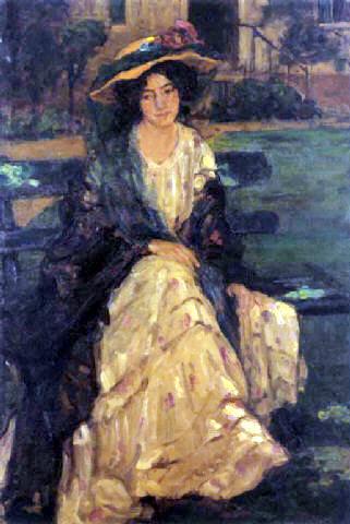 Jeune fille au chapeau à fleur