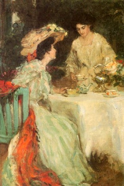 Ladies Having Tea