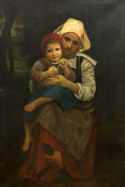Mother And Child (after W. A. Bouguereau)