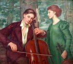 Musicians In The Forest - The Cello Player