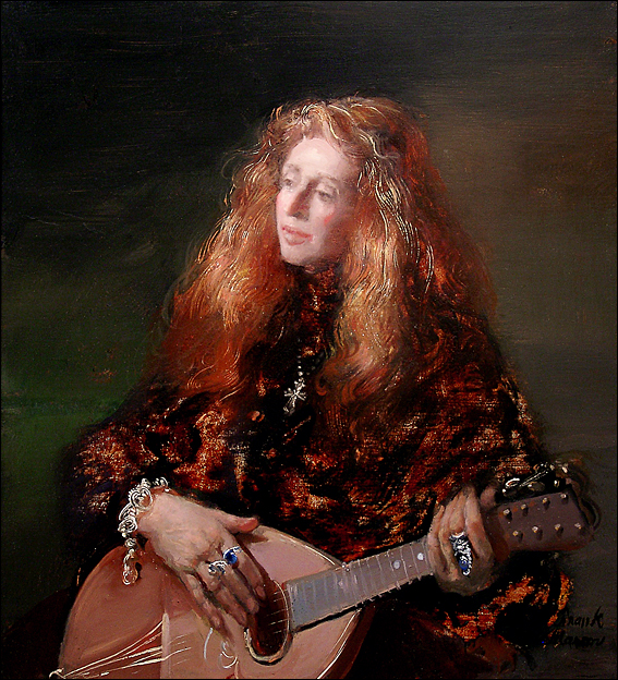 Pamela With Lute