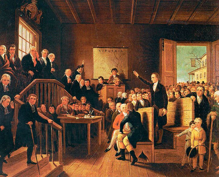 Patrick Henry Arguing The Parson's Cause At The Hanover County Courthouse