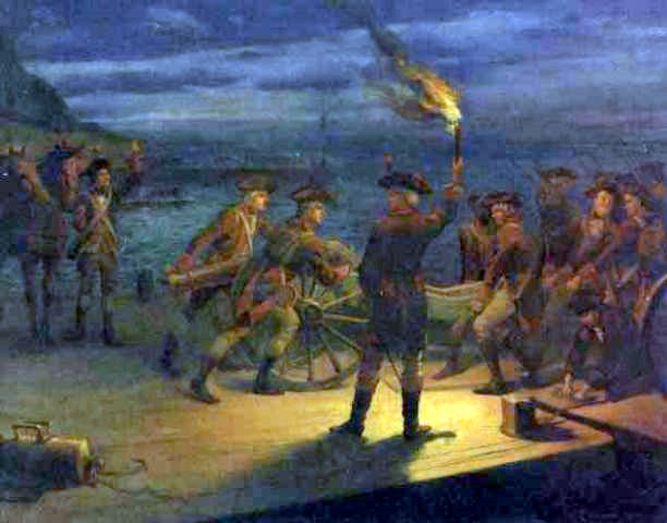 Revolutionary War Harbor Scene