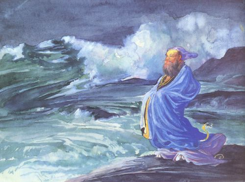 A Rishi Calling Up A Storm - Japanese Folklore