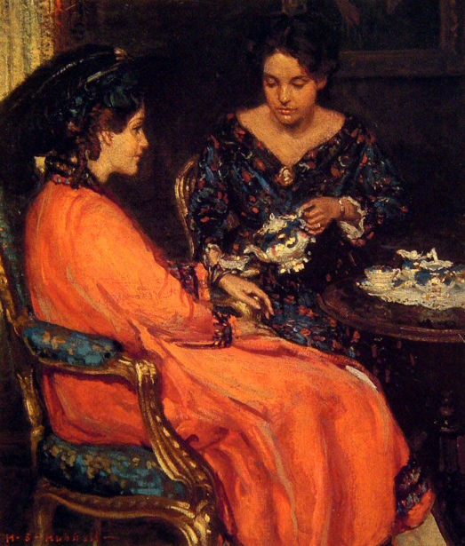 Study for The Orange Robe