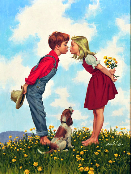 Boy and Girl Kissing