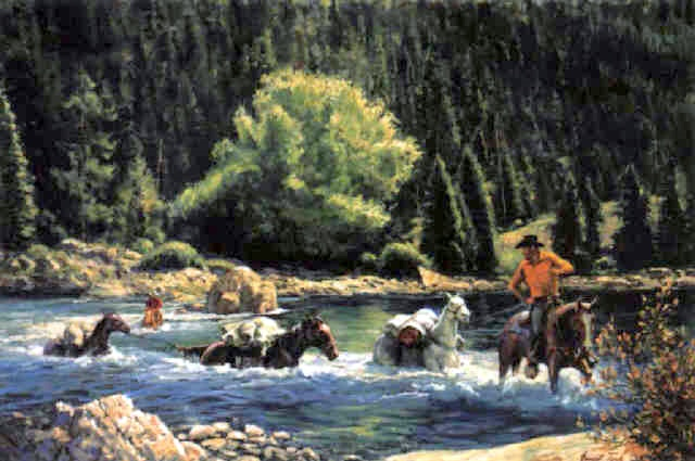 Fording The Wenatchee