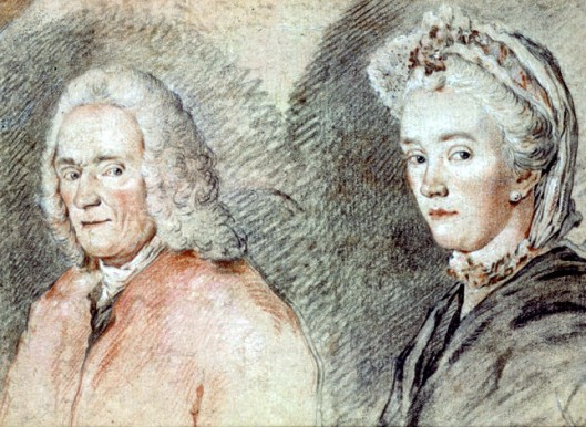 François-Marie Arouet de Voltaire and Madame Marie-Louise Mignot Denis