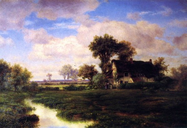 Landscape With Farmhouse By A Stream