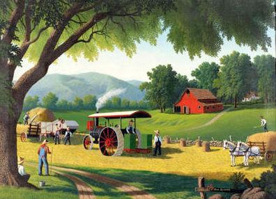 Midwest Farm Scene