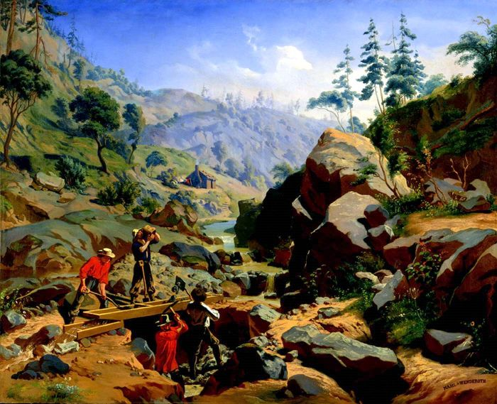 Miners In The Sierra (with August Wenderoth)