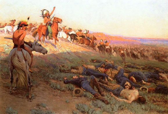 The Last Glow Of A Passing Nation (Custer's Last Stand)