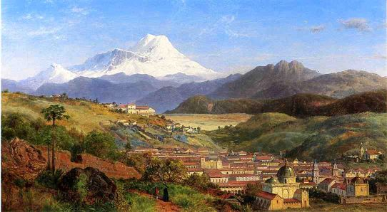 View Of Riobamba, Ecuador, Looking North Towards Mount Chimborazo