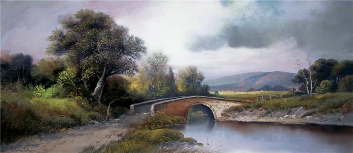 Stone Bridge Crossing Hudson River