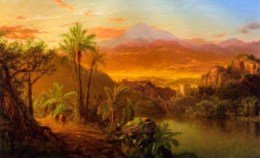 Travelers In A Tropical Landscape