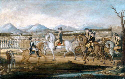 Washington Reviewing The Western Army At Fort Cumberland, Maryland.bmp (sm)