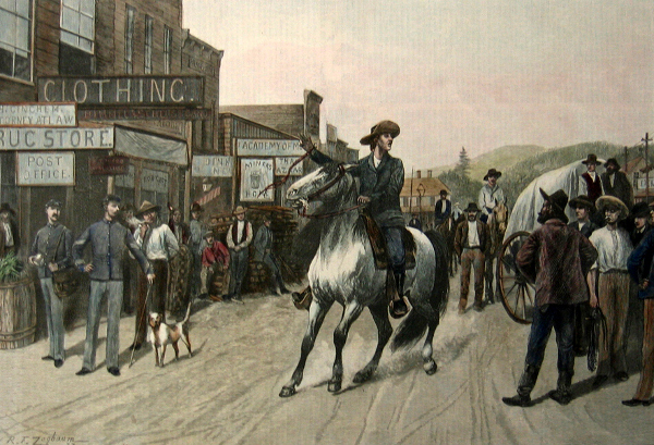 A Horse Auction On The Frontier