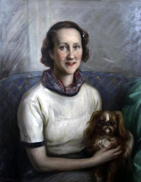 A Lady With A King Charles Spaniel
