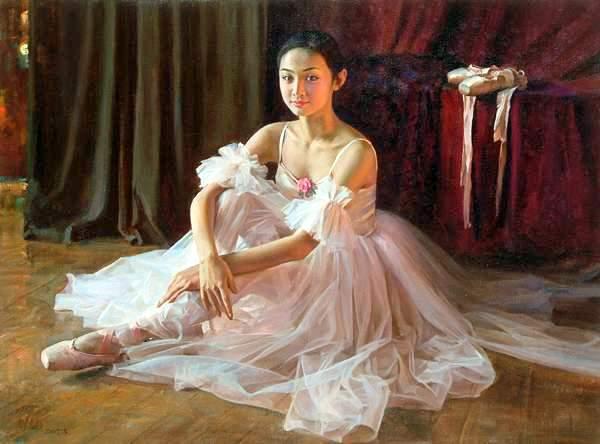 Голубая танцовщица или Магия балета.  Фарфоровая коллекционная кукла от Донны Руберт.