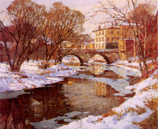 Choate Bridge, Winter