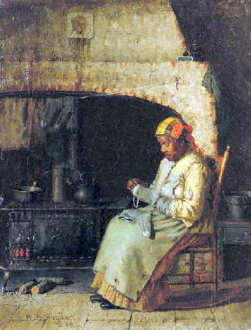 Darning By The Hearth