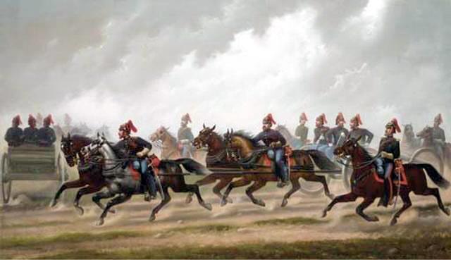 General Winfield Scott's Artillery Troops