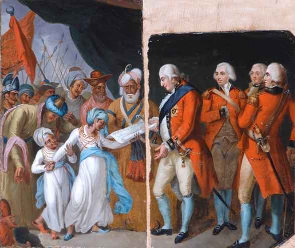 Lord Corwallis Receiving The Sons Of Tipu As Hostages, 1792