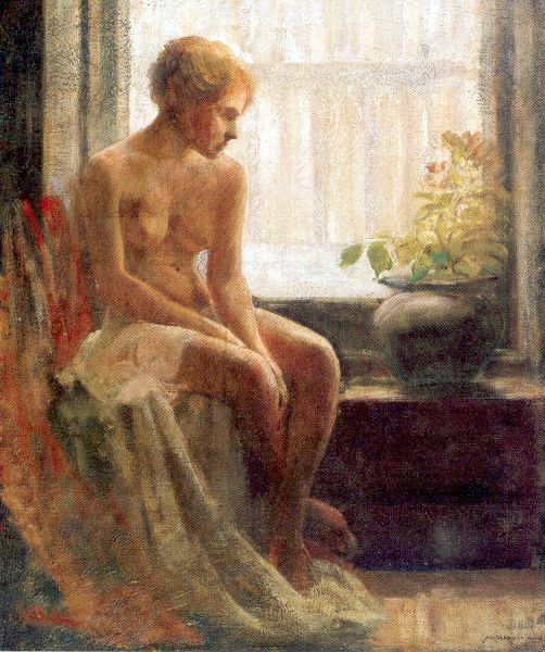 Nude Seated By A Window