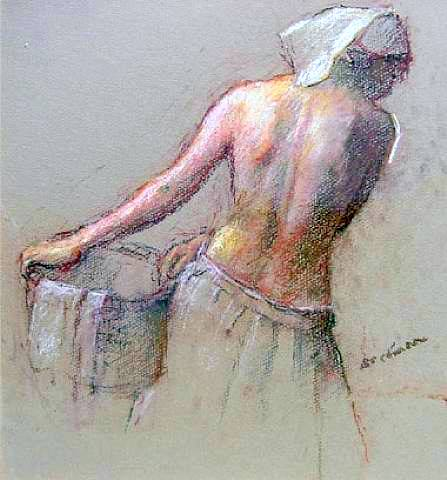Nude With Basket