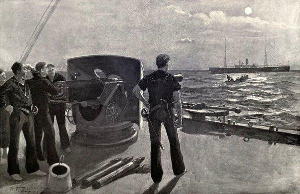 On The Blockade Off San Juan - Under The Cruiser's Guns