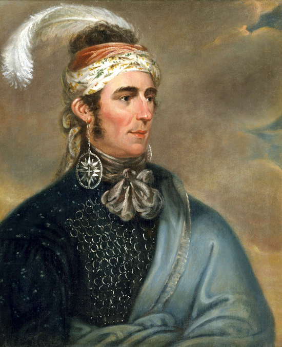 Portrait of Major Norton, The Mohawk Chief Teyoninhokarawen