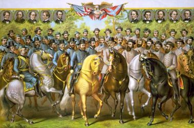 Prominent Union And Confederate Generals And Statesmen