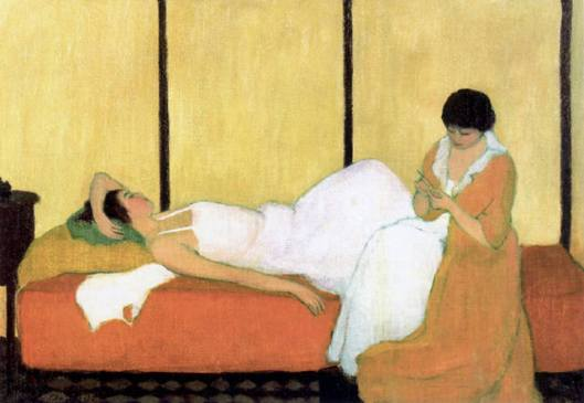 Two Women In An Interior