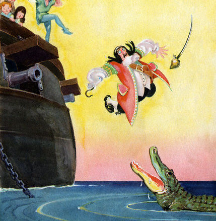 Captain Hook Falling Overboard