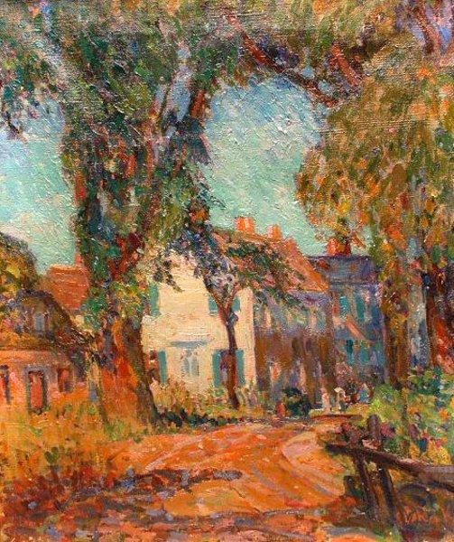 New England Fall Street Scene