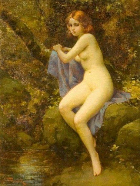 Nude Art Painting Aurora
