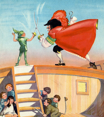 Peter Pan And Captain Hook Sword Fighting
