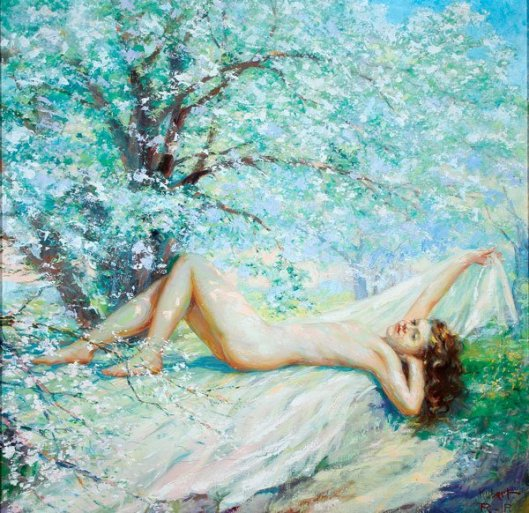 Reclining Nude - Nature's Beauty
