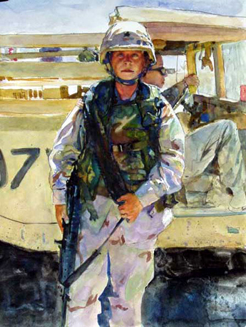 Sgt. Hodge, 3d ID Baghdad Airport