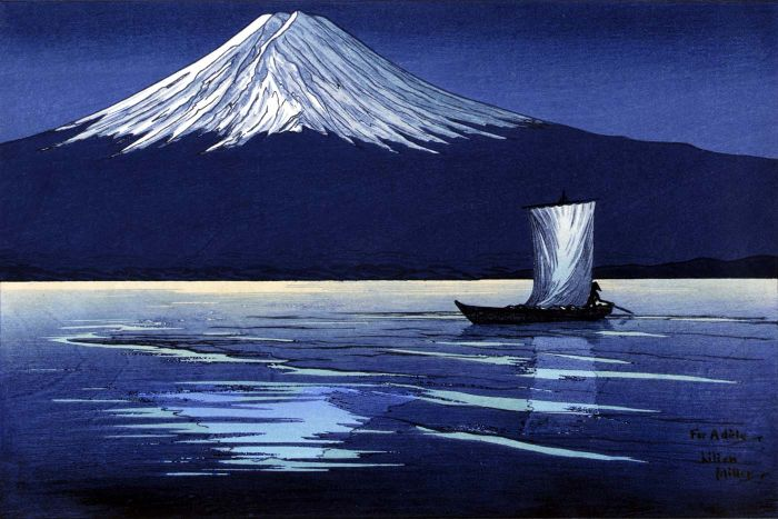 Moonlight On Mt. Fuji