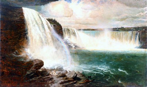 Niagara Falls Showing The Canadian And American Views