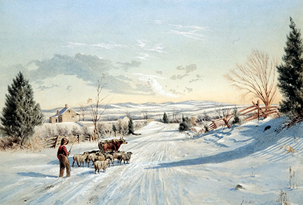 Winter Scene - View Near Clarkstown