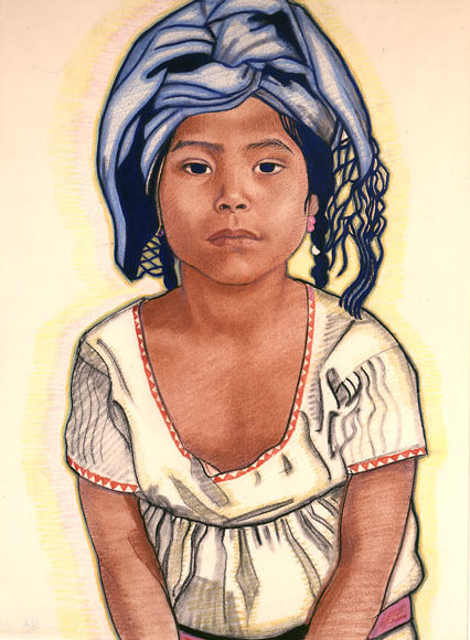 Zapoteka Girl From Mitla