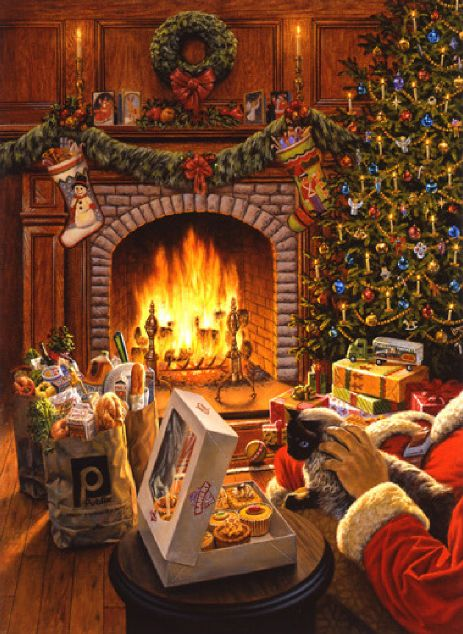 Jermann david american gallery 21st century Christmas card scenes to paint