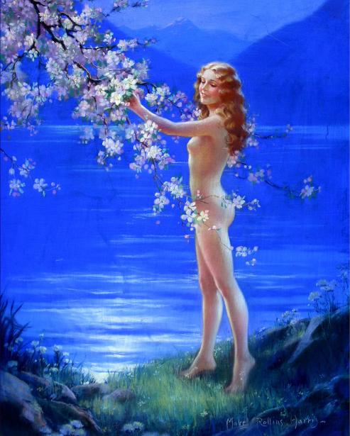 Nude Woman Pausing